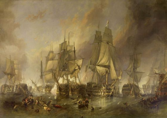 Stanfield, (William) Clarkson Frederick: The Battle of Trafalgar. Fine Art Print/Poster. Sizes: A4/A3/A2/A1 (00387)